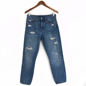 levi's | 501 high rise distressed jeans